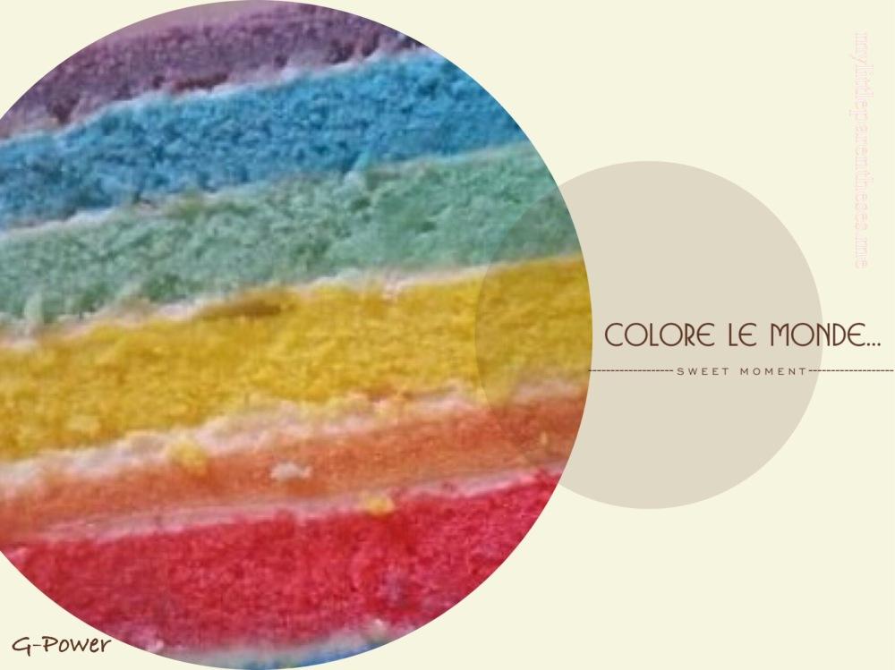 Détail Rainbow cake